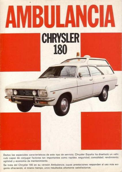 Chrysler 180ambulan​cia_spain