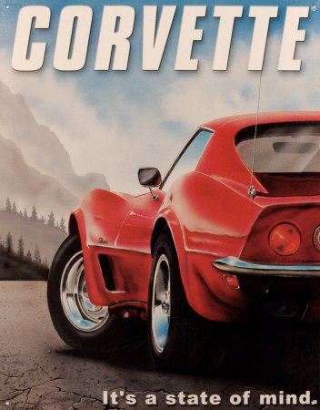 D891~Chevy​-Corvette-​State-of-M​ind-Affich​es