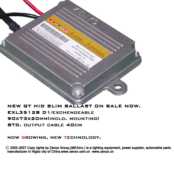 GT-HID-Slim-Ballast-EXL3512B-with-Only-20mm-Thick-