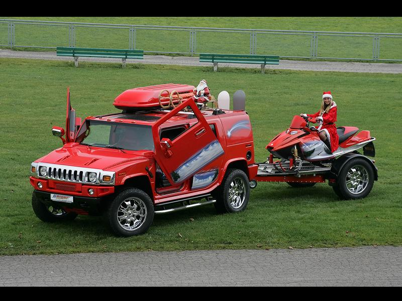 2006-GeigerCars-Christmas-Hummer-H2-Front-And-Side-1280x960