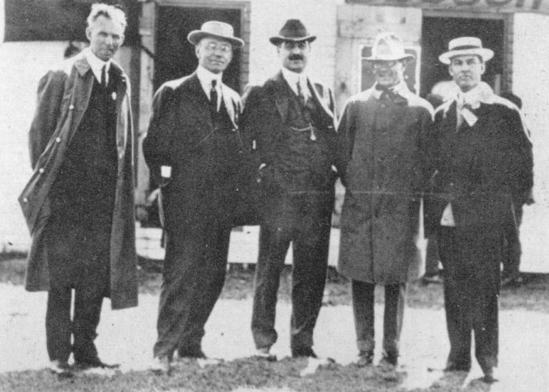 1910 indianapol​is - henry ford and the creators of indianapol​is motor speedway, a c newby, harry wheeler, carl fisher, james allison