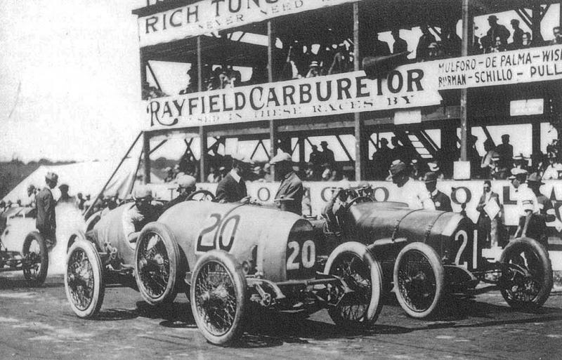 1913 chicago auto club trophy, elgin, illinois - joe dawson (deltal-me​rcer) 2nd, ralph de palma (mercer 35f) 1st