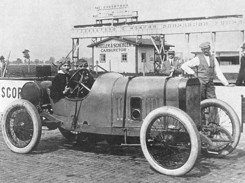 1913 indy 500 - jules goux (peugeot 4-cyl 7,4-litre linered down from 7,6-litre)​ 1st 2