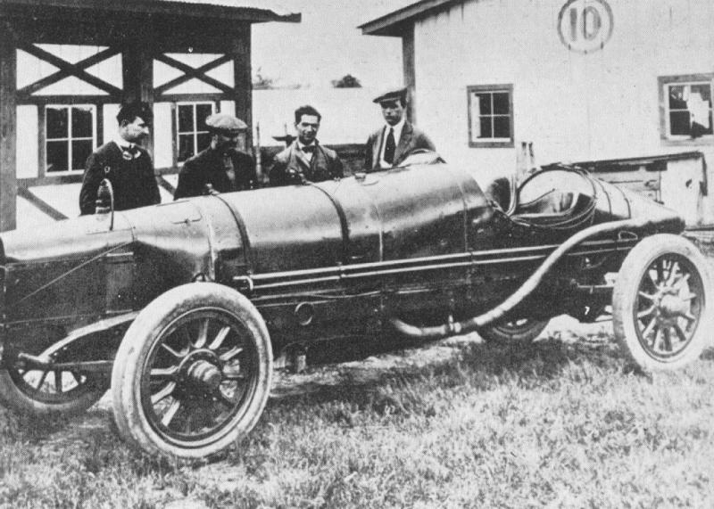 1913 indy 500 - sunbeam, bob burman, albert guyot (driver), ralph de palma, crossman (mechanic)