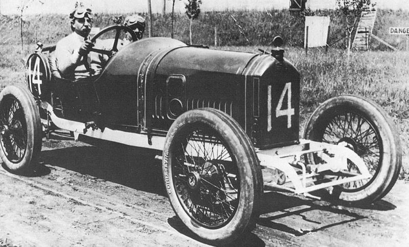 1914 indy 500 - arthur duray (peugeot 4-cyl 3-litre) 2nd