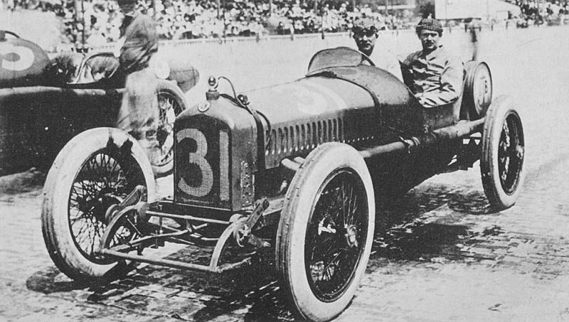 1919 indy 500 - rene thomas (ballot) 11th