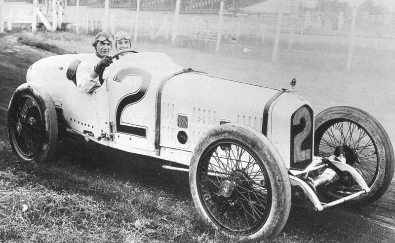 1920 indy 500 - ralph de palma (ballot 3-litre 8-cyl) 5th, mechanic peter de paolo 1