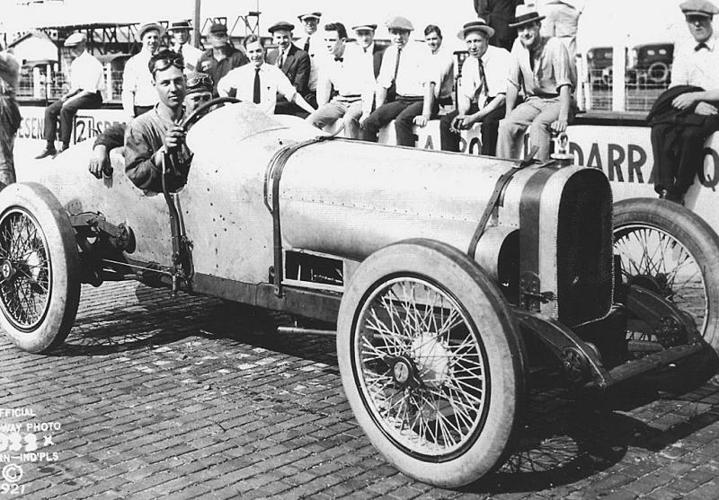 1921 indy 500 - ora haibe (sunbeam, raced as 16) 5th