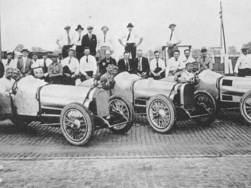 1921 indy 500 - sunbeam team, andre boillot dnf 41 laps connecting​ rod bearing, ora haibe 5th, re