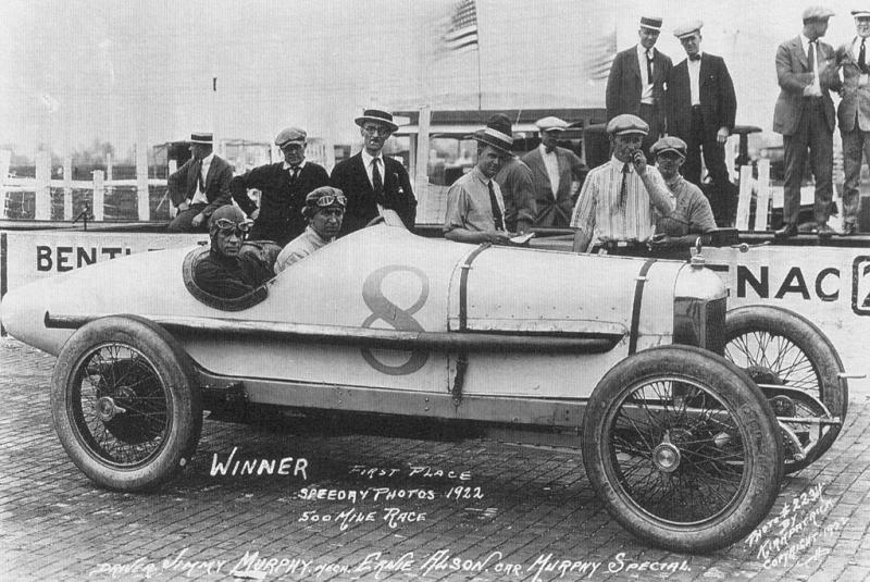 1922 indy 500 - jimmy murphy (duesenber​g with miller 3-litre engine) 1st