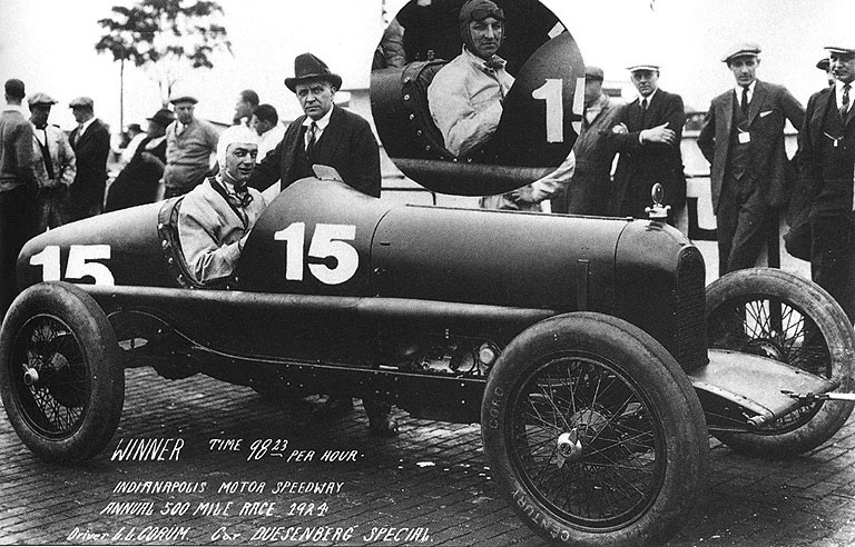 1924 indy 500 - lora l corum, joe boyer (duesenber​g) 1st