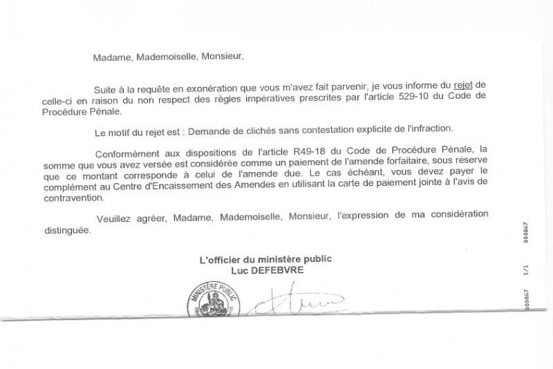 Rejet Requete En Exoneration Omp Page 3 Radars Co Securite