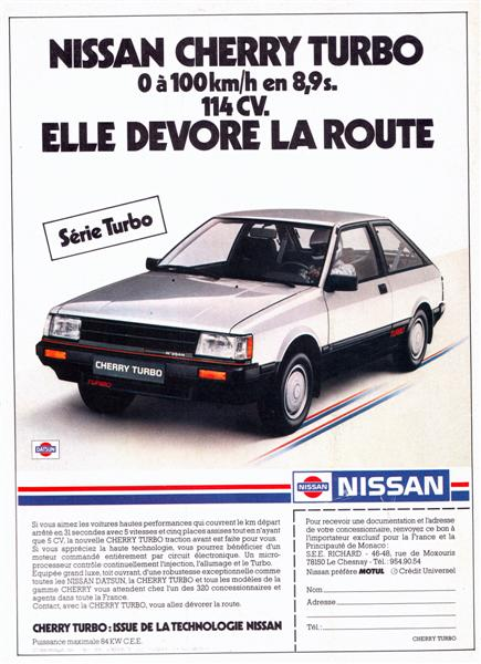 Pub - Nissan Cherry Turbo - 1984 (Medium)