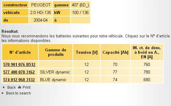 batterie voiture 407 hdi 136