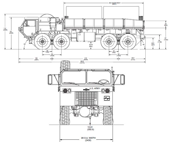 M977A2_epp_Oshkosh_electrical_power_plant_truck_United_states_US-army_line_drawing_blueprint_001