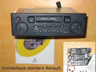 renault autoradio clio 3 sur clio 2 audio quipement. Black Bedroom Furniture Sets. Home Design Ideas