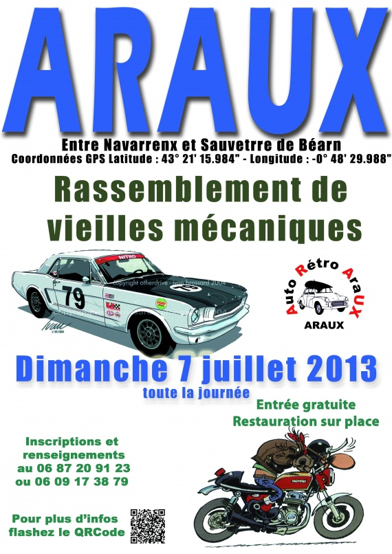 Affiche véhicules anciens 2013 format A3
