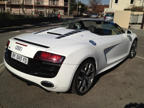 mon audi r8 spyder v10 blanche page 14 r8 audi forum marques. Black Bedroom Furniture Sets. Home Design Ideas