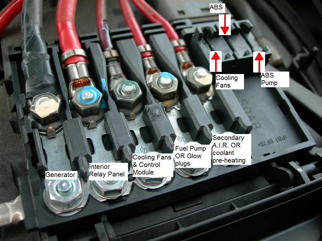 Audi A4 3 0 Fuse Box Wiring Diagram Will Be A Thing A8 4e Probl U00e8me Court Circuit Golf 4 Tdi 1 9 Volkswagen A6 Location