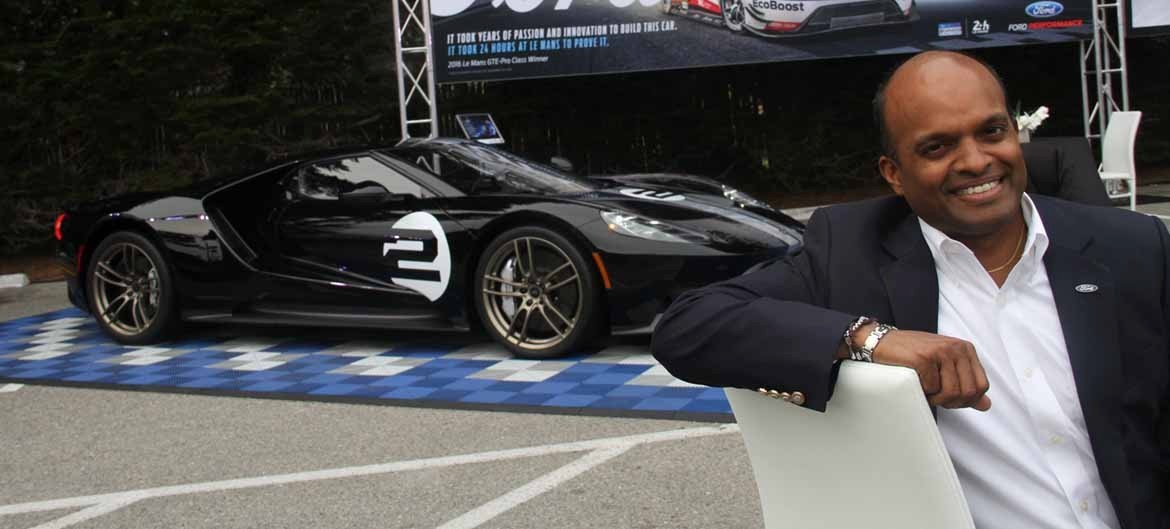 RAJ NAIR and the spécial  Heritage  new Ford GT.