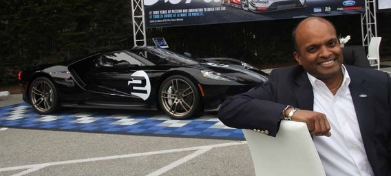 "RAJ NAIR and the spécial ""Heritage"" new Ford GT."