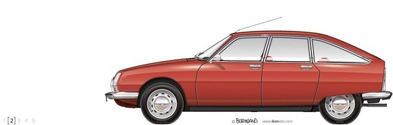 1973-CITROEN-GS-1220-CLUB-ROUGE-DE-RIO-ikonoto-blueprint-customized