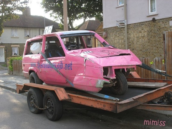 Reliant Robin stock car 1