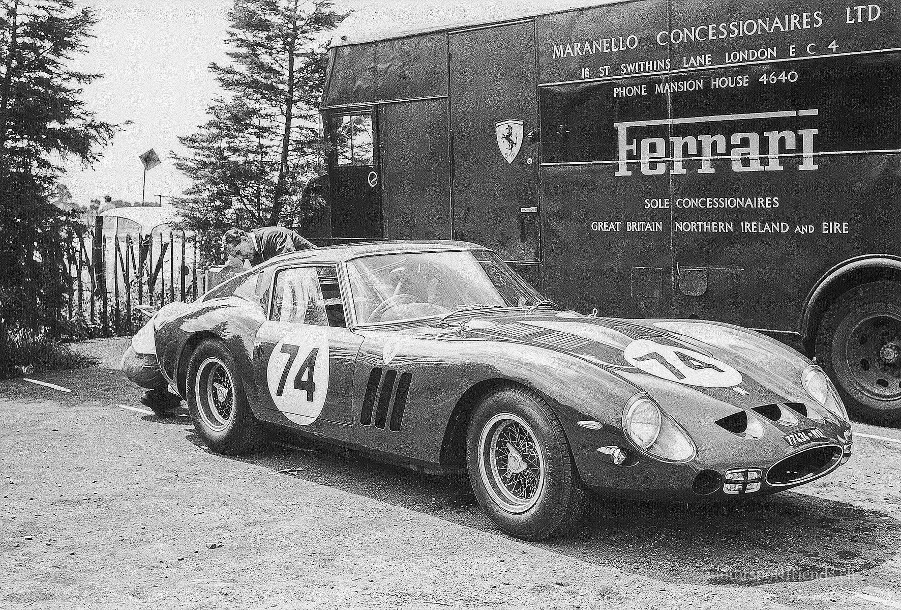 Transporteur - GV vert - Maranello Concessionaires - 1962 - Brands Hatch International Guards Trophy