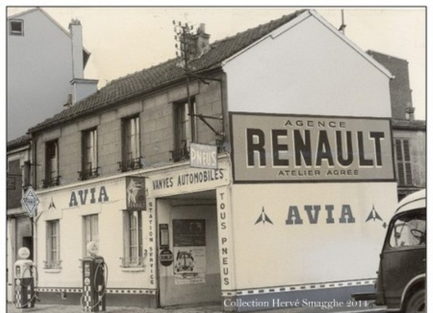 Garage renault vanves automobiles vers 1960 par for Garage paris club