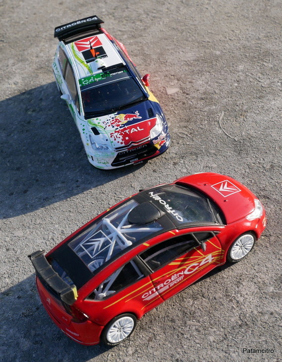 Citroën C4 Sport Concept 2004 - Solido # 15113 et C4 WRC HYmotion4 test 2008 - IxoAltaya coll Loeb #