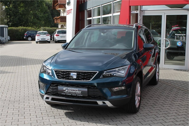 seat ateca style 1 6 tdi bleu lave ateca lava blue faxounette photos club club. Black Bedroom Furniture Sets. Home Design Ideas