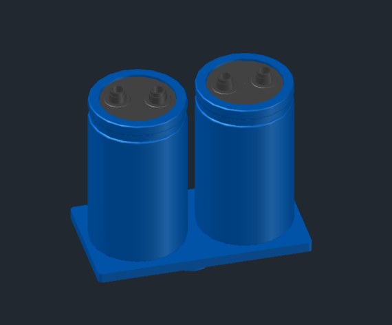 Blue capacitors