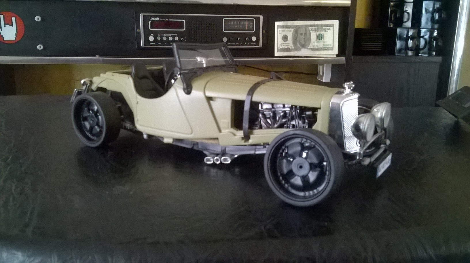 Jaguar ss 100 Hot Rod 1/18 .21