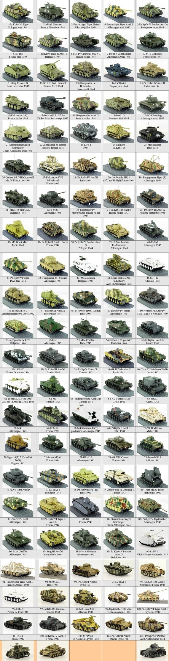 poster chars WWII au 1/43 N25