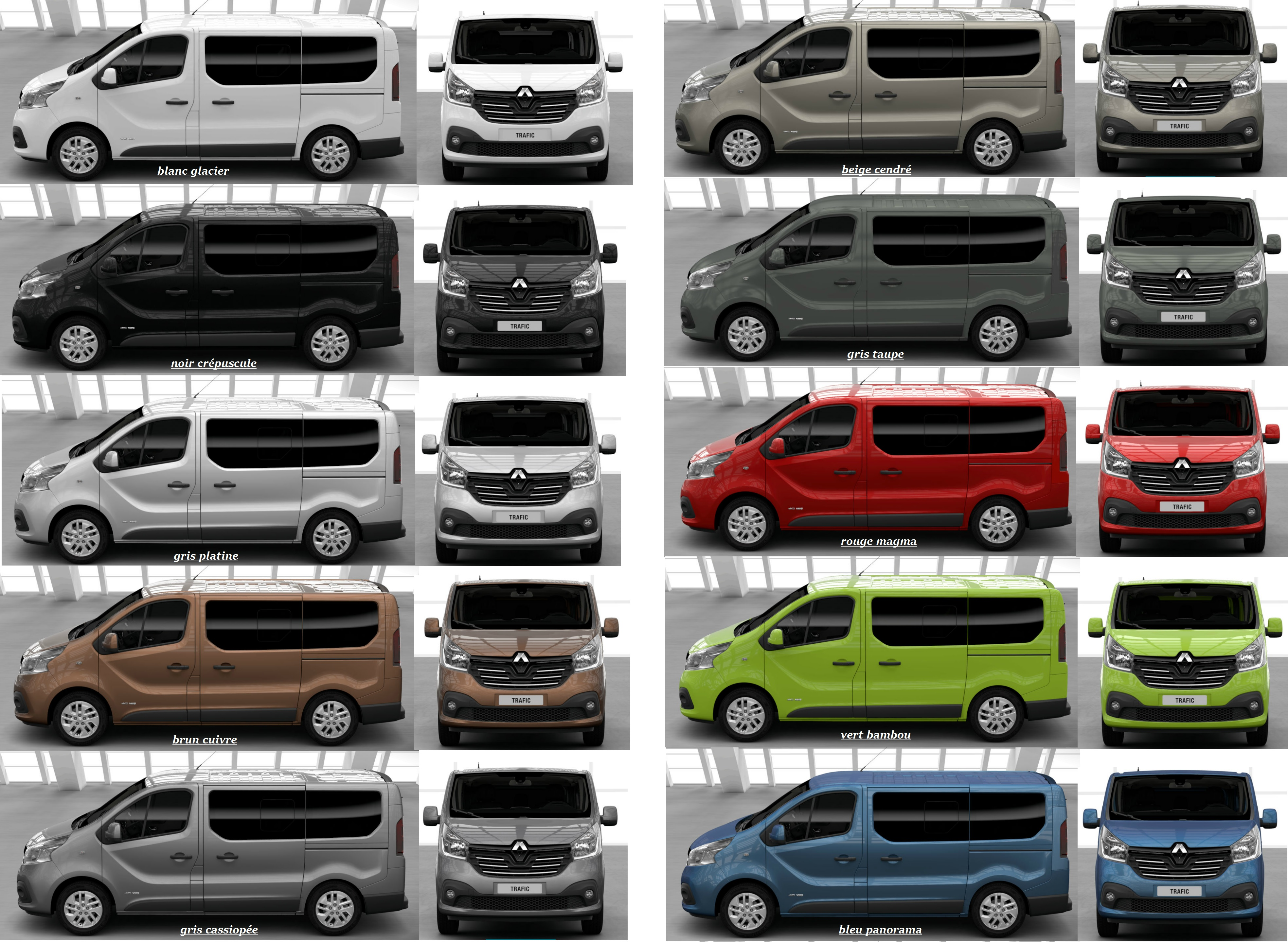 couleurs trafic 3 renault trafic 3 lolodav photos club. Black Bedroom Furniture Sets. Home Design Ideas