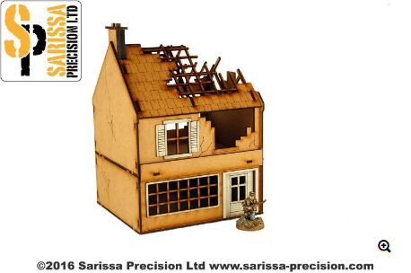 Sarissa 28mm Destroyed Small Shop