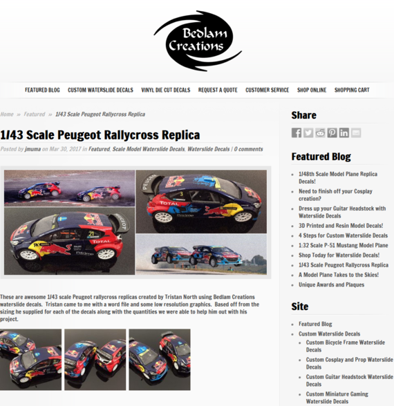 1 43 Scale Peugeot   - Bedlam Creations