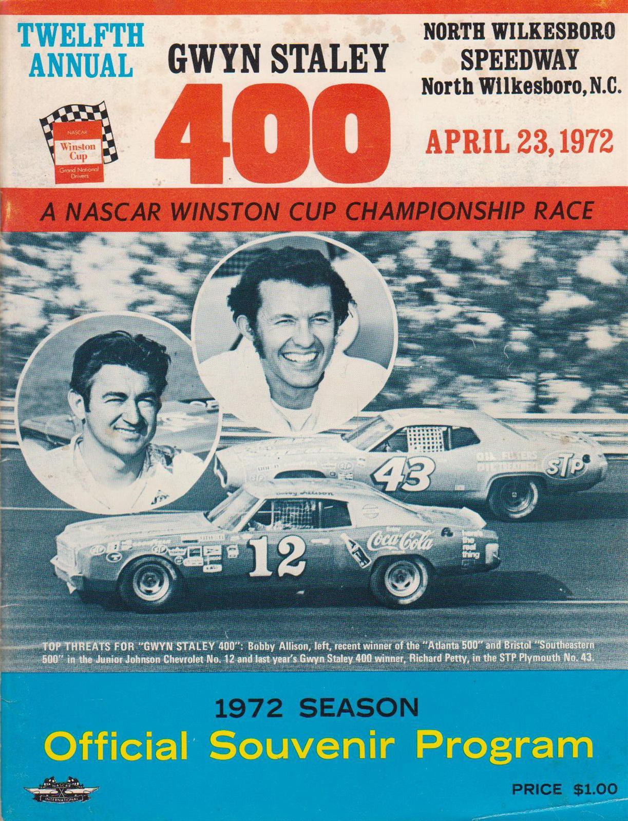 1972 north Wilkesboro program