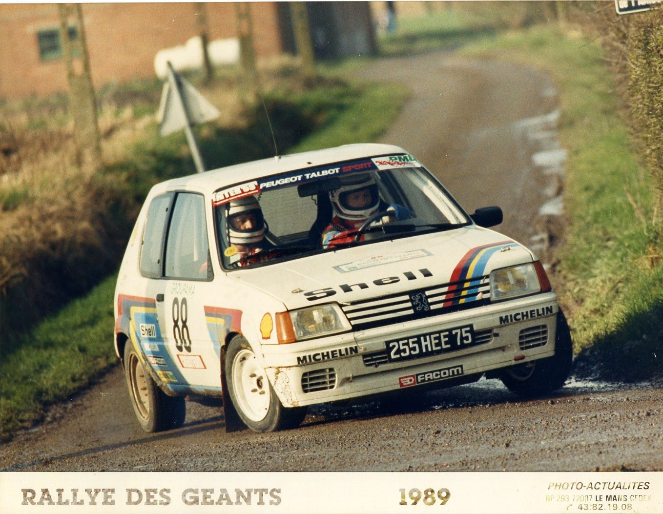 1989 peugeot 205 rallye le bihan kervarrec g ants rallyes fran ais miniature 22 photos. Black Bedroom Furniture Sets. Home Design Ideas