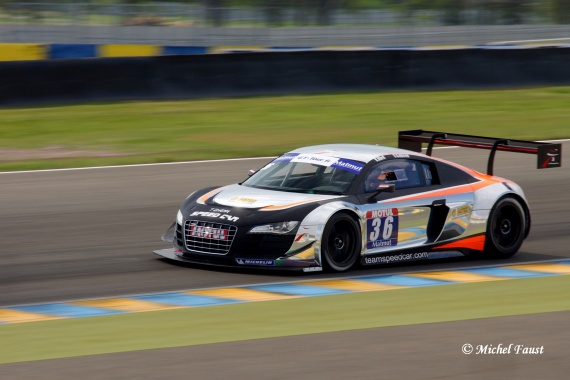 ABRIL Vincent  Team Speed Car Audi R8 LMS ultra CABIROU / ABRIL GT FFSA Le Mans 2013