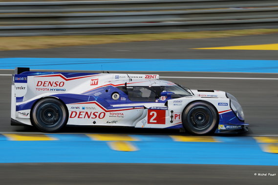 Toyota Racing Toyota TS 040 Hybrid -  Wurz / Sarrazin / Conway - 24 h du Mans 2015 Course