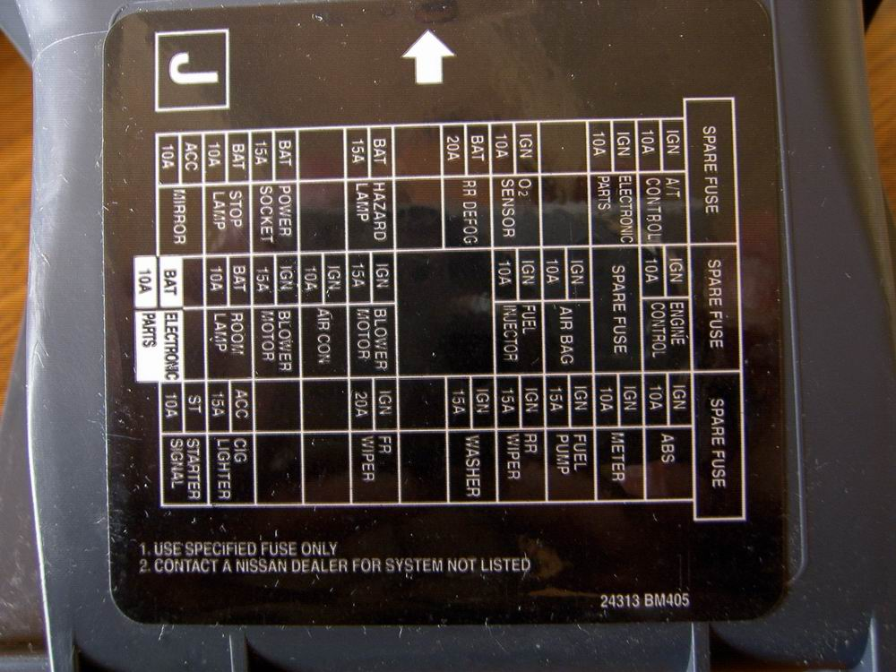 nissan note 09 fuse box plan