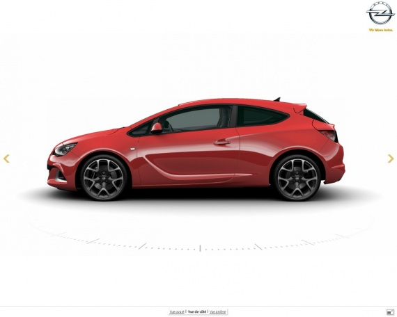 Opel ASTRA GTC OPC Rouge 20 pouces
