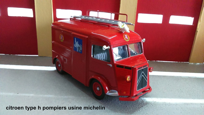 citroen type h pompiers usine michelin mes minis au 1 43 jojo21240 photos club club. Black Bedroom Furniture Sets. Home Design Ideas