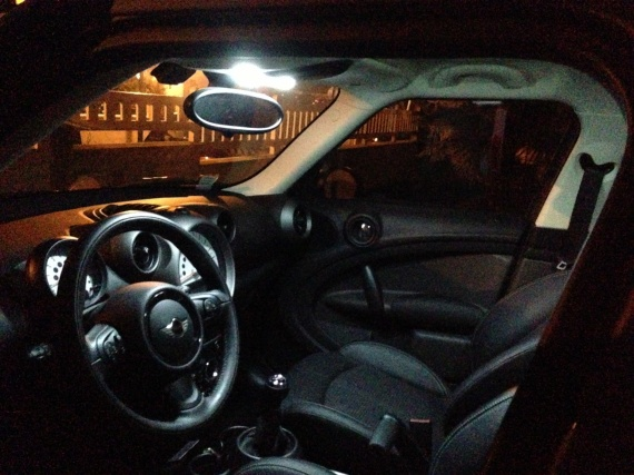 Interieur led mini cooper countryman eclairage led mini for Eclairage interieur led
