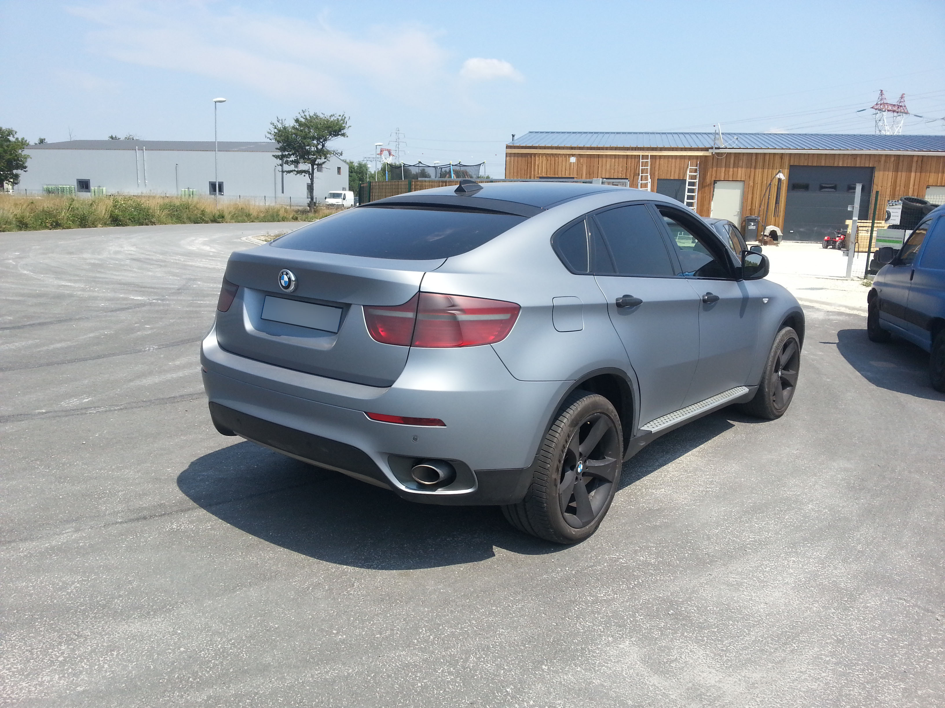 Total Covering Gris Mat Bmw X6 Covering Car Adhesifs Photos