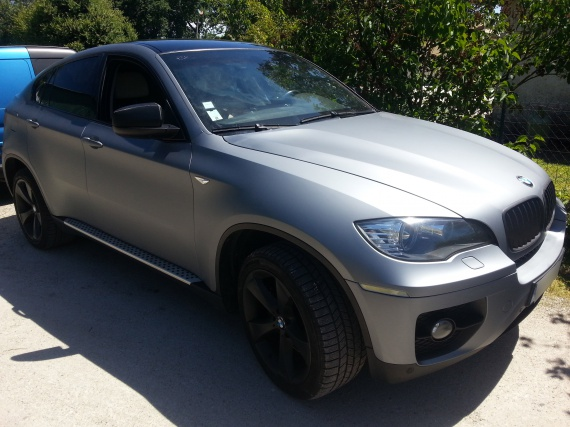 Total Covering Gris Mat Bmw X6 Toit Noir Brillant Covering Car