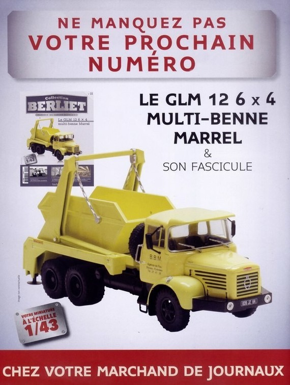 N°15 - Le GLM 12  6 X 4 multi-benne Marrel