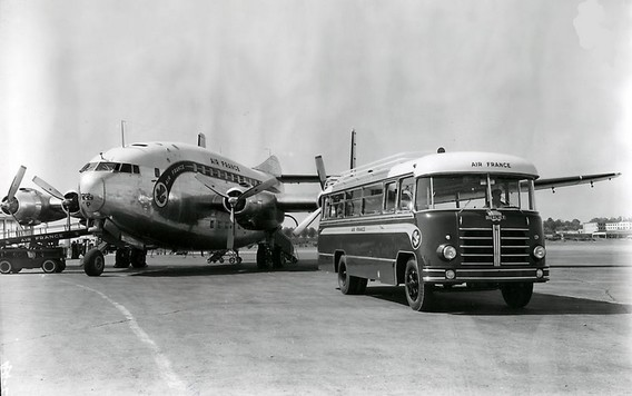 Berliet PLB 6  Air France  Aéroport Marseille Marignane de 1954