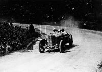Otto Salzer in a Mercedes GP14 in the Targa Florio Sicily 1922. Taking a bend near the town of Cerda